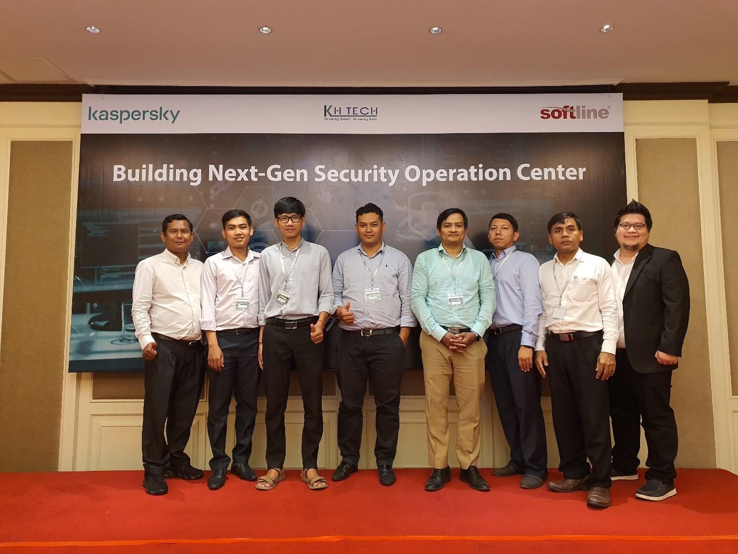 Softline Cambodia's Sales team and customers